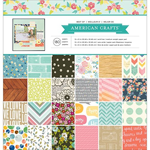 American Craft Baby Paper - American Crafts Best of Paper Pad, 12 by 12-Inch, American Crafts