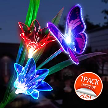 Sunshine Multi-Color Changing LED Solar Butterfly Garden Lights