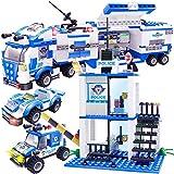 WishaLife 756pcs City Police, City Police Station Building Sets, City Sets, Police Sets, Mobile...