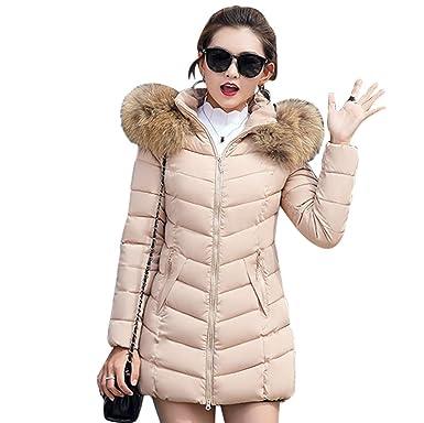 Lvguang Manteau d hiver des Femmes col de Fourrure Fausse Fourrure à  Capuche épaisse Veste 6cc1c4717e2e