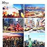 new york postcards - Rumcent Beautiful Scenery Travel Postcard Of New York,To Remember An Impromptu Trip.Size:10. m14.2CM (4