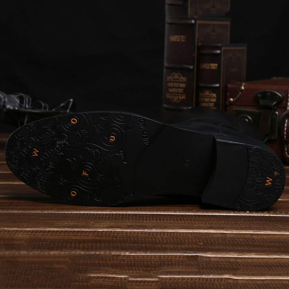 Cy Herren Herren Herren Echtes Leder Wadenlänge Biker Cowboystiefel Armee Militärische Taktische Stiefel Einfache Mode Reitschuhe Lange Röhre Männlichen Schuh 6b6aa4