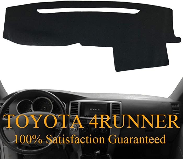 Dashboard Cover Dash Cover Mat Pad Carpet Custom Fit for Toyota 4Runner 2003 2004 2005 2006 2007 2008 2009 (Black) Y17