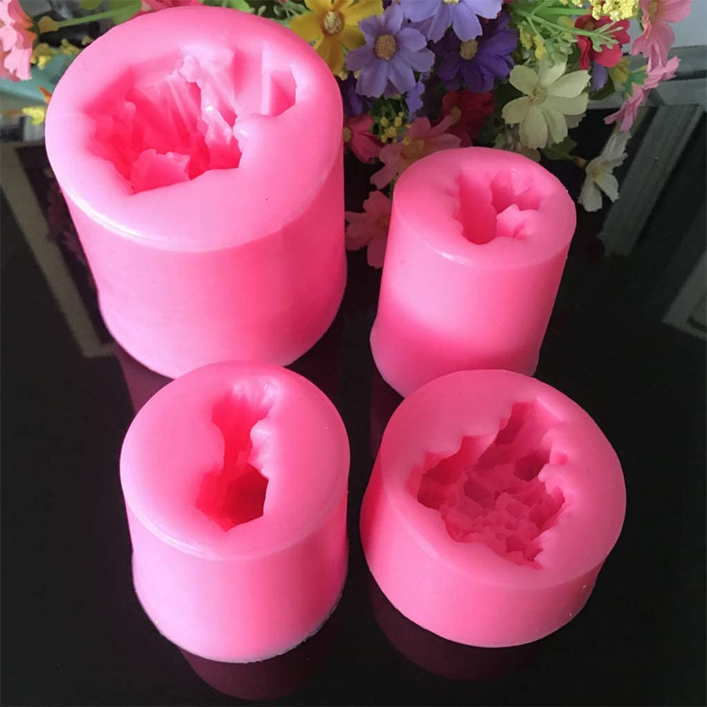 Isomalt Gems Polymer Clay Tools suuplies Candle Resin Epoxy shyln Set of 4 Crystal Silicone Molds for Cake Decoration