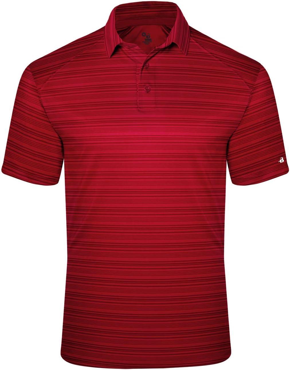 Badger Sport - Polo de Golf para Adultos, diseño de Rayas, XXXXL ...