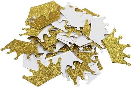 Mybbshower Glitter Gold Tiara Stickers