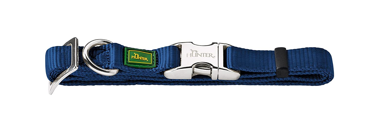 HUNTER Alu Strong Collar, Large, Blue/Navy Blue 43959