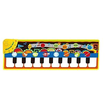 YeahiBaby Teclado de Piano Tapete de Juego Tapete de Alfombra Musical de Baile para Bebés: Amazon.es: Juguetes y juegos