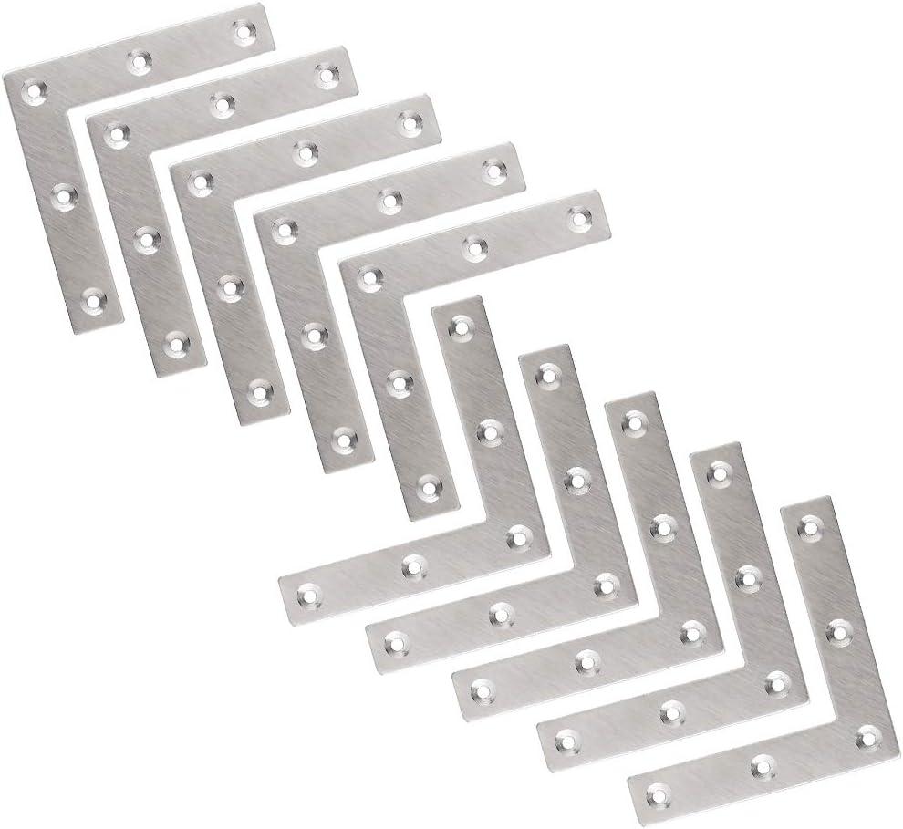 L= 20 cm Flachwinkel 50X Stahl Winkel Verbinder S= 2 mm B=18 mm