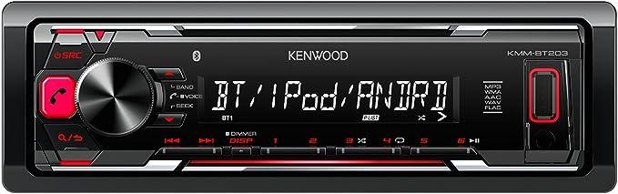 Kenwood Electronics KMM-DAB403 Negro Receptor Multimedia para Coche - Radio para Coche (Negro, 1 DIN, MOSFET, FLAC,MP3,WAV,WMA, LCD, Dab+,FM,LW,MW): Amazon.es: Electrónica