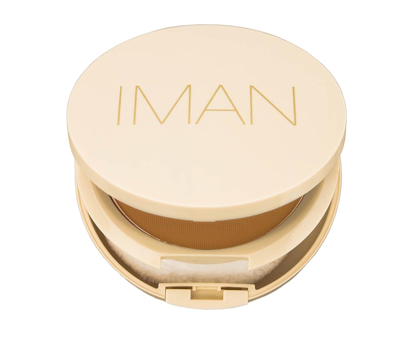 IMAN Cosmetics Perfect Response Oil-Blotting Pressed Powder, Light/Medium, 0.35 Ounce 00271