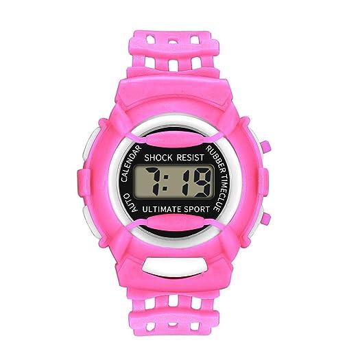 Reloj analógico Digital para niños, Material de Resina, Reloj de Pulsera hermético, Regalo electrónico LED Deportivo: MOSTFA: Amazon.es: Relojes