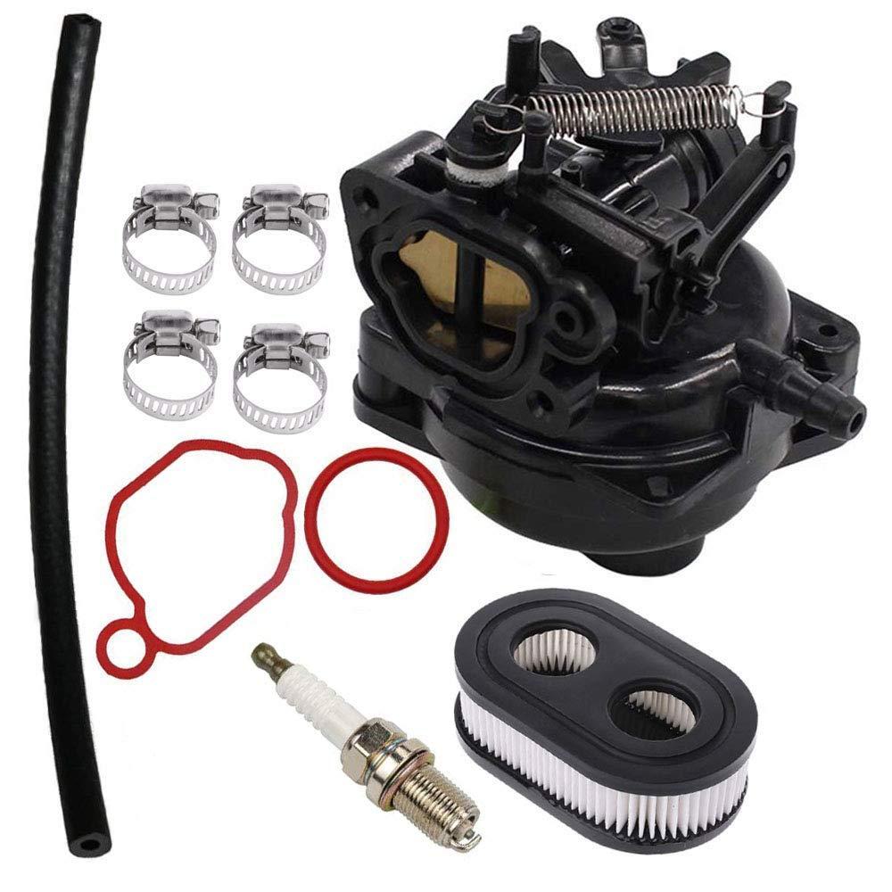 799584 Carburetor for Briggs & Stratton 09P702 9P702 550EX 625EX 675EX 725 EXI 140cc Engines Carb with Air Filter Spark Plug Kit by Fuerdi