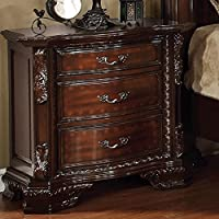 Furniture of America CM7267N South Yorkshire Brown Cherry Nightstand