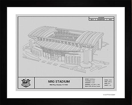 Amazon houston texans nrg stadium framed blueprint wall art houston texans nrg stadium framed blueprint wall art malvernweather Choice Image