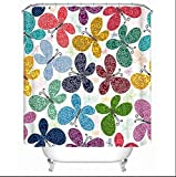 GouuoHi Home Shower Curtain 1pcs Shower Curtain Fresh Polyester Fabric Opener Mildewproof Art Shelter Bath Curtain Toilet Shade Super Quality Opaque Bathroom Amenities (Color : 150cm200cm)