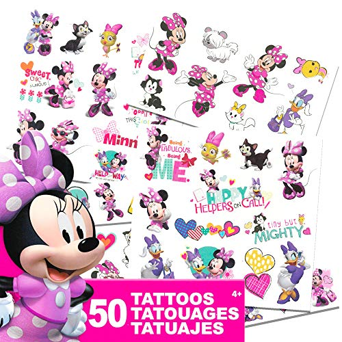 Disney Minnie Mouse Tattoos - 50 Assorted Temporary Tattoos ~ Minnie Mouse, Daisy Duck, and More!