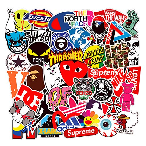 New 100 Pcs Fashion Brand Stickers for Laptop Stickers Motorcycle Bicycle Skateboard Luggage Decal G...