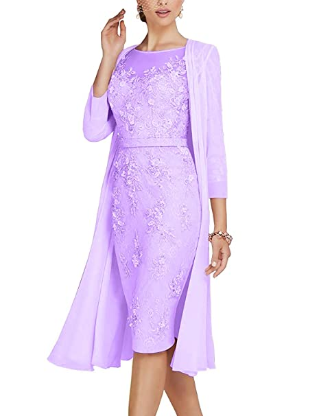 Amazon.com: Michealboy - Vestido de encaje para madre del ...