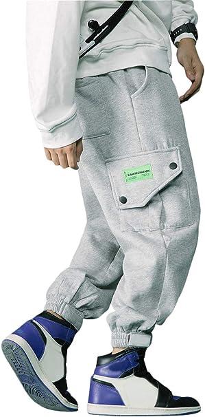 Irypulse Unisex Cargo Pantaloni Addensati Combattimento Trousers Sciolto personalit/à Pants Streetwear per Uomo Donna Giovani Autunno Inverno
