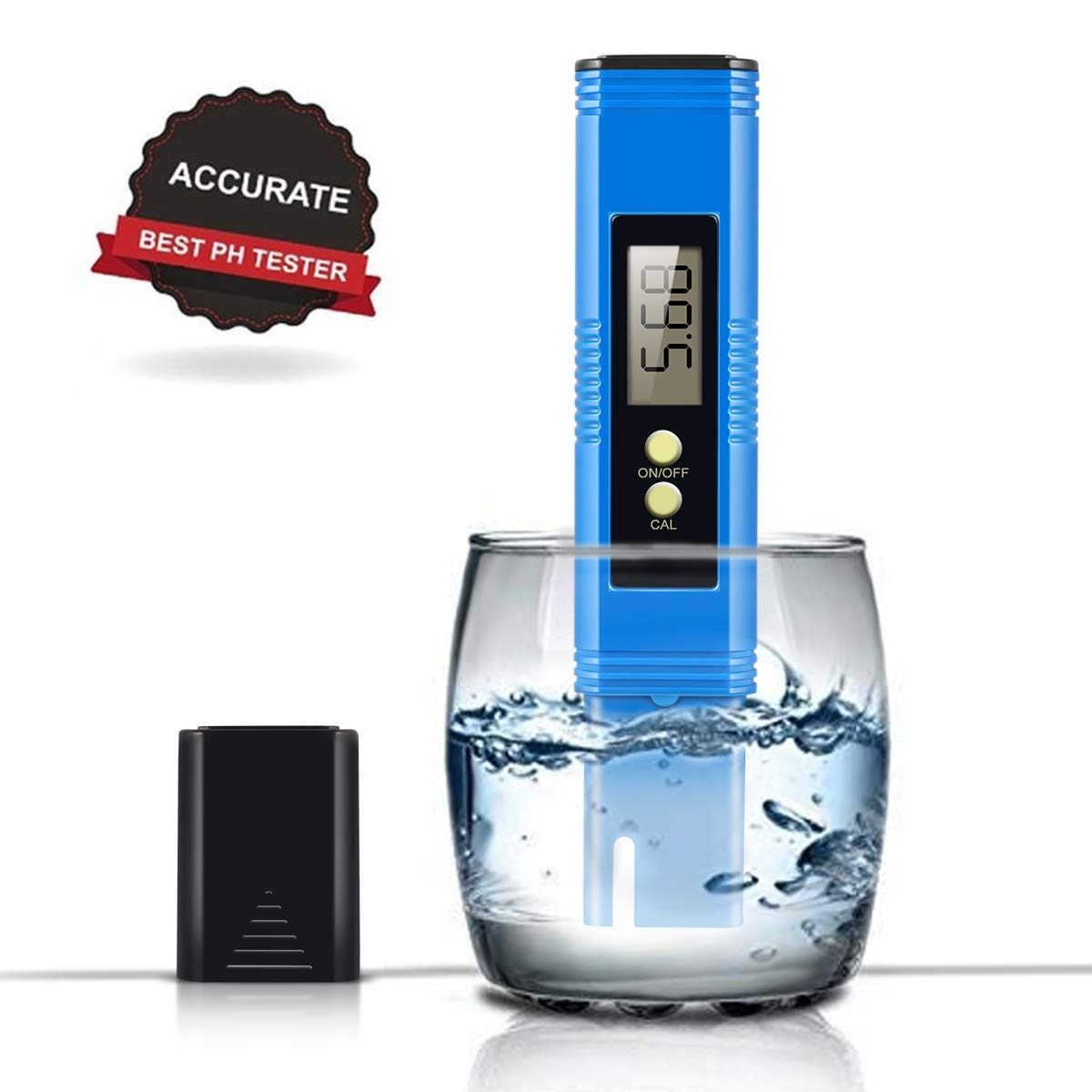 Digital PH Meter, PH Meter 0.01 PH High Accuracy Water Quality Tester with 0-14 PH Measurement Range by MiToo