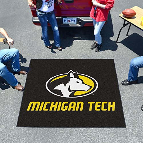 (FANMATS NCAA Michigan Tech University Huskies Nylon Face Tailgater Rug)