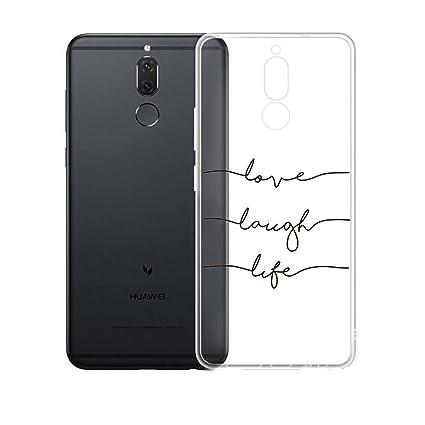 Funda para Huawei Mate 10 Lite Carcasa , YIGA Moda Símbolos musicales Caso Cristal Transparente Funda TPU Gel Cubierta De Silicona Suave Tapa Case ...