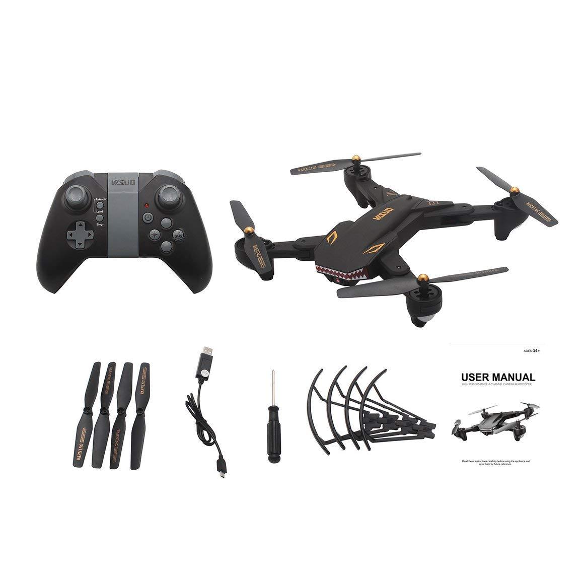 Funnyrunstore VISUO XS809S Drone WiFi WiFi Selfie Caméra Altitude Tenir Pliable Sans tête Mode Une Touche Retour 3D Flip Quadricoptère