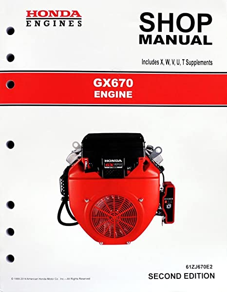 amazon com honda gx670 engine service repair shop manual garden rh amazon com Honda GX670 Engine in Golf Cart GX610 Honda Engine