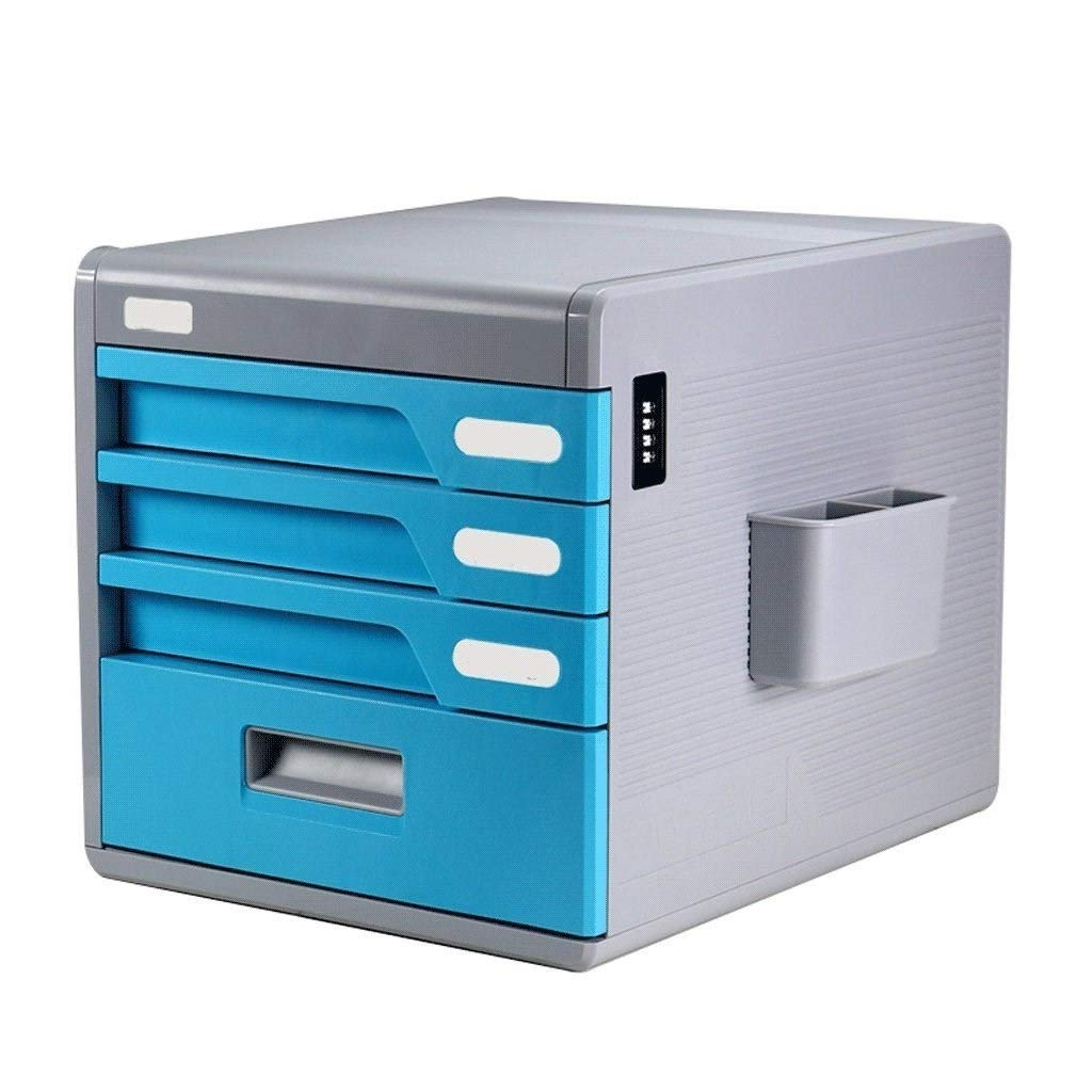 LBWT Desktop Storage Box - Drawer Type Multi-Layer File Cabinet with Password Lock Office/Home/Bank/Mall by LBWT