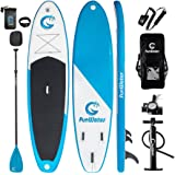 "FUNWATER All Round Paddle Board 11'length 34"" width 6"" thick Inflatable Sup with Adjustable Paddle,ISUP Travel Backpack,Leash,High Pressure Pump w/gauge and Water Proof Phone Case"