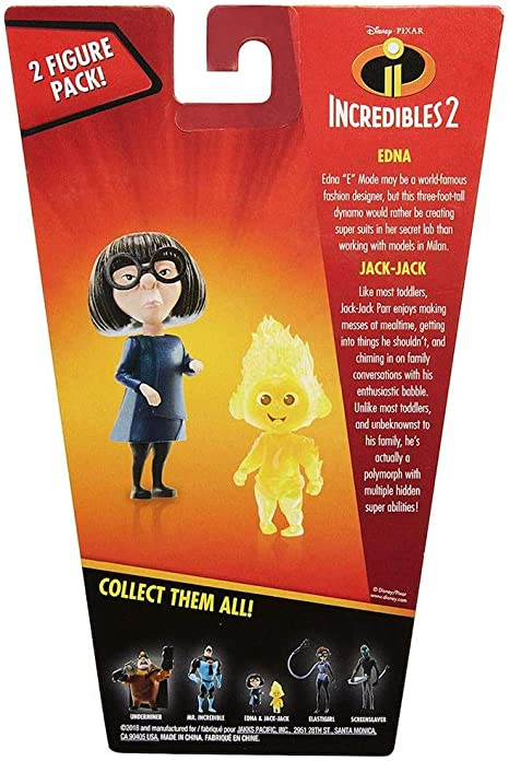 Amazon Com Edna Jack Jack Incredibles Action Figures 4 Toys Games