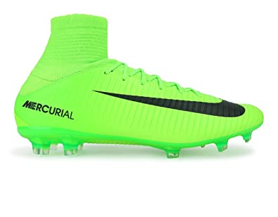 Nike Men's Mercurial Veloce III Dynamic Fit FG Electric Green/Black/Flash  Lime Soccer