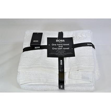Hugo boss funda 2 piezas Para baño juego de toalla de mano óptica blanco