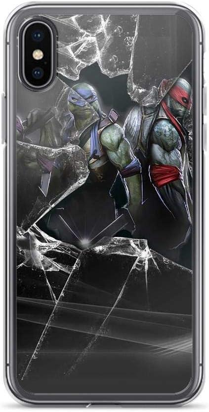 TEEMT Compatible with iPhone 7 Plus/8 Plus Case Teenage Mutant Ninja Turtles TMNT Raphael Leonardo Pure Clear Phone Cases Cover