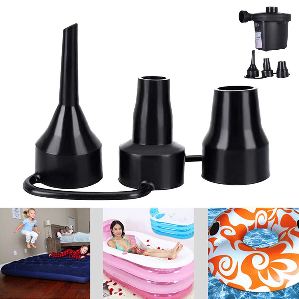❤Ywoow❤ Inflatable Pump Nozzle, Plastic Nozzle Pump Nozzle Head Air Inflator Adaptor Replacement Nozzles 3 Sizes
