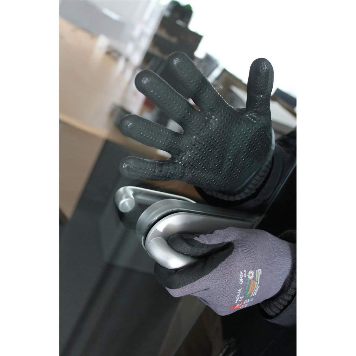 10 Paar Hase Safety Padua Grip Nitril-Arbeitshandschuhe Rutschfeste Mechaniker-Handschuhe Gr/ö/ße XS 06