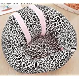 BingHang Baby Chair Learn to Sit Sofa Infant Safety Seat Portable Dining Chair Support Sofa (leopard)