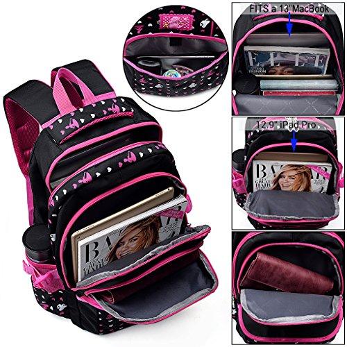 UTO Backpack Oxford Waterproof Cloth Nylon Child Teenager Rucksack Primary Junior Senior High School Bookbag Black Negro