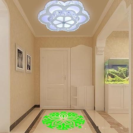 YMXJB Luces modernas LED techo luz colgante lámpara decoración perfecta para pasillo escalera dormitorio comedor decorativo patrón de proyección puede , 1: Amazon.es: Hogar