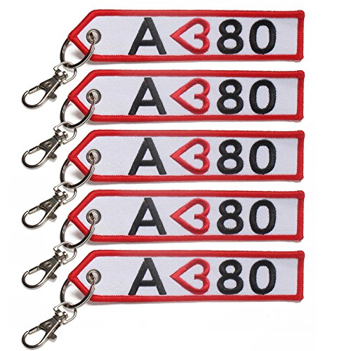 5x Handmade Remove Before Flight KeyChain for Motorcycle Scooters Cars Pilot Crew Tag (Cycle Pilot)