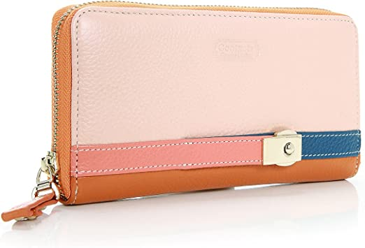 LADIES LEATHER SMALL PURSE ID WINDOW NOTES CARD SLOTS COINS COMPARTMENT MONEY