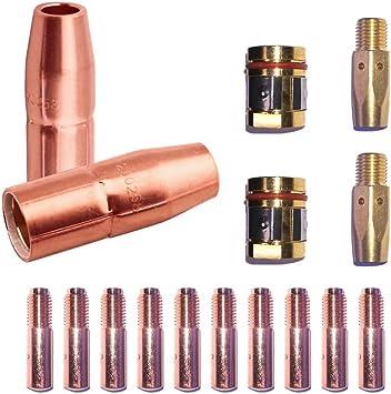 0.045 for Miller Millermatic M-10 M-15 M-25 M-40 M-100 M-150 Hobart H-9 H-10 MIG Guns WeldingCity 25-pk MIG Welding Contact Tip 000-069
