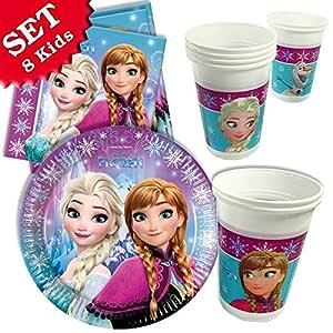 Juego de decoración de Frozen para cumpleaños, 26 piezas ...
