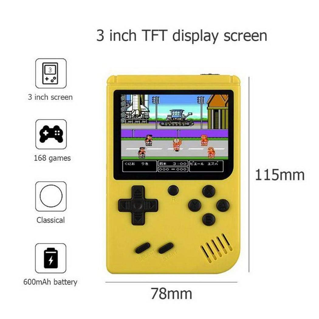 dalina Portable Built-in 168 Games Mini Handheld Game Console Retro Handheld Games for Kids by dalina (Image #5)