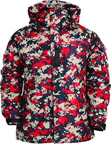 myglory77mall Mens Camouflage Hooded Weatherproof Winter Snowboard Ski Jacket US S(M tag) ()