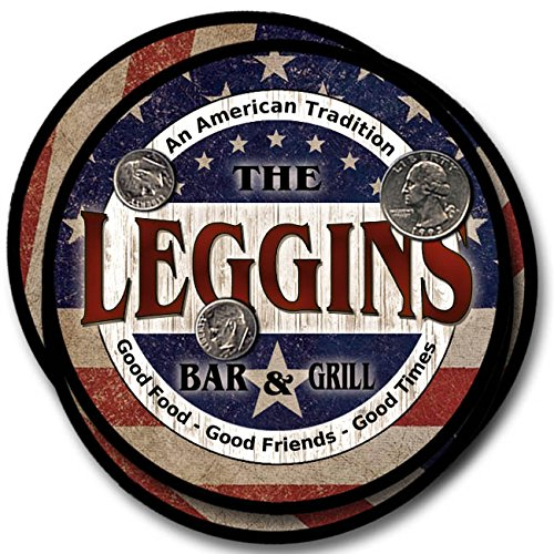 Rubber Leggin (Leggins Bar and Grill Rubber Drink Coasters - 4 Pack)
