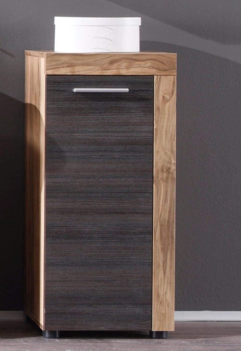 4-teilig Touchwood Dunkelbraun 123 x 184 cm Badezimmer: Badm/öbel Set Cancun Nussbaum Satin