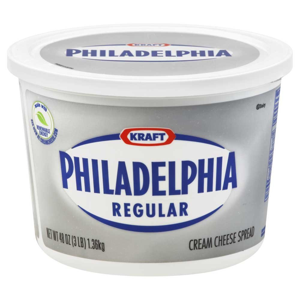Philadelphia 3 Pound Cream Cheese Soft Tub Foodservice -- 6 per case. by Kraft