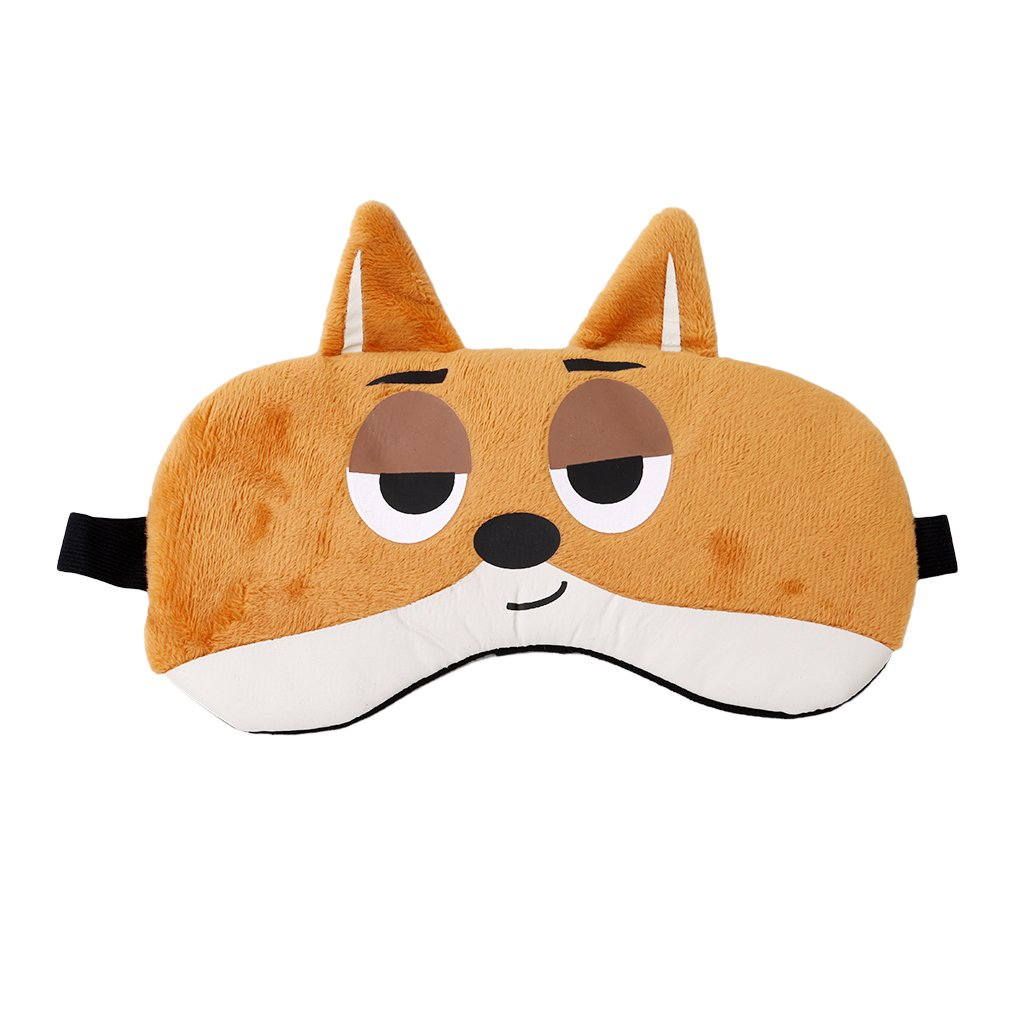 HENGSONG Sleep Eye Mask Cute Cartoon Animal Printed Soothing Relaxing Travel Sleep Eye Shade, Cool / Warm Therapy (Fox)